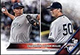 2016 Topps Update #US3 Conor Mullee / Chad Green New York Yankees Baseball Rookie Card in Protective Screwdown Display Case