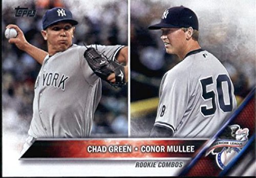 2016 Topps Update #US3 Conor Mullee / Chad Green New York Yankees Baseball Rookie Card-MINT