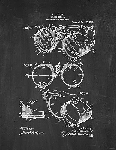 Welding Goggles Patent Print Chalkboard (8