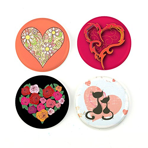 Buttonsmith Romantic Hearts 1.25