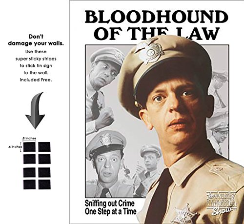 Hollywood Tin - Shop72 - Hollywood Movie Tin Sign Funny Bloodhound of The Law Tinsign -