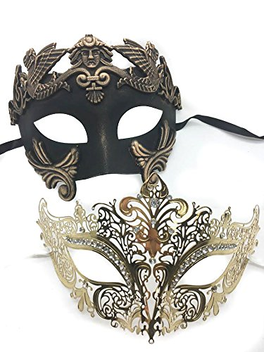 Golde (His And Hers Masquerade Ball Masks)