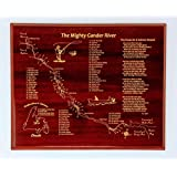 "Salmon Fishing""The Mighty Gander River"" Plaque-Mahogany Veneer 10.5""x13"""