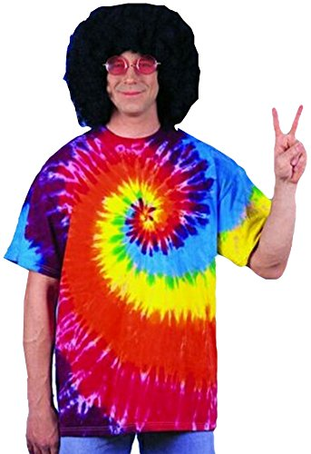 [Forum Novelties Men's Tie-Dye T-Shirt, Multi, Standard] (Tie Dye Dress Costume)