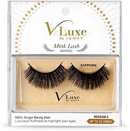 38b3cab6167 V-LUXE by Kiss I Envy Virgin Remy Tapered End Mink Eyelashes - VLEF04  SAPPHIRE