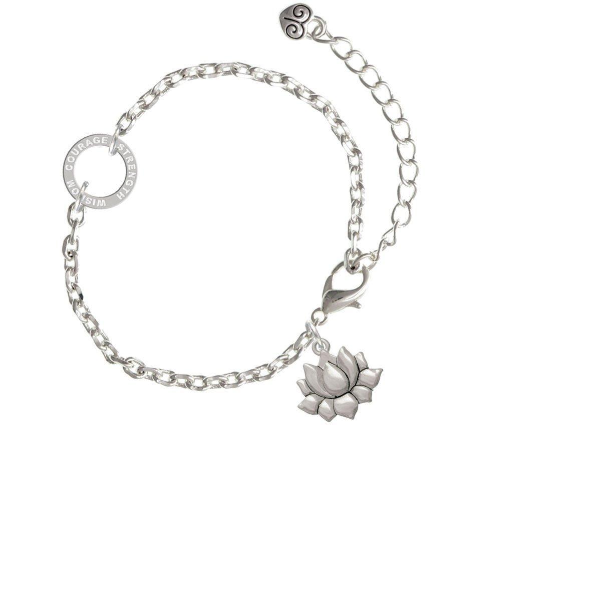 Small Lotus Flower Courage Strength Wisdom Ring Zoe Bracelet