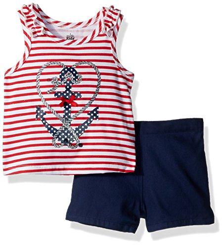 - Kids Headquarters Baby Girls 2 Pieces Shorts Set, Navy, 18M