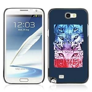 YOYOSHOP [Cool Tiger Jaguar Cat Eyes] Samsung Galaxy Note 2 Case