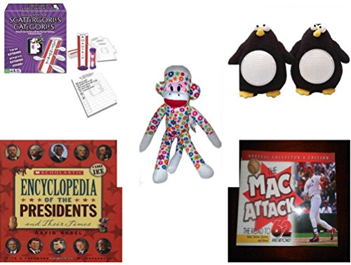 Children's Fun & Educational Gift Bundle - Ages 6-12 [5 Piece] - Includes: Game - Toy - Plush - Hardcover Book - Paperback Book - No. (Things Start With Letter O)