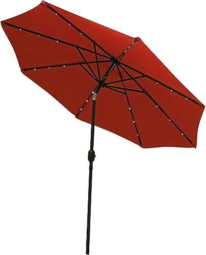 Sunnydaze Solar Outdoor Patio Umbrella