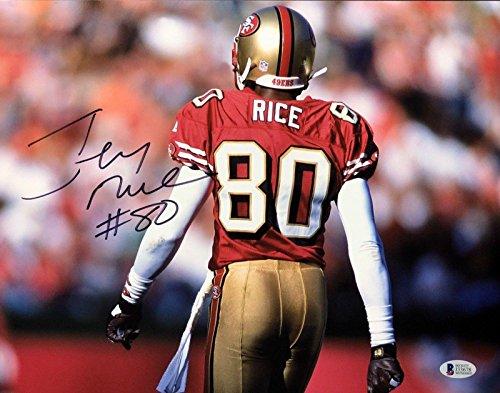 Signed Jerry Rice Photograph - 11x14 *HOF *MVP BAS Beckett J33678 - Beckett Authentication - Autographed NFL Photos (Jerry Rice Photograph)