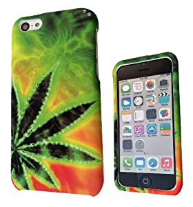 XiFu*Meiipod touch 5 Marijuana Leaf Cannabis Weed Rasta Design Full case Cover Front&BackXiFu*Mei