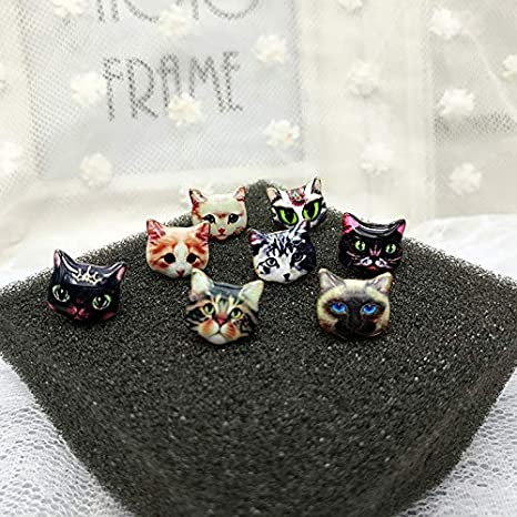 Rawlins Cartoon Cute cat Stud Earrings Lovely Jewelry Alloy Earrings for Little Girl Gift