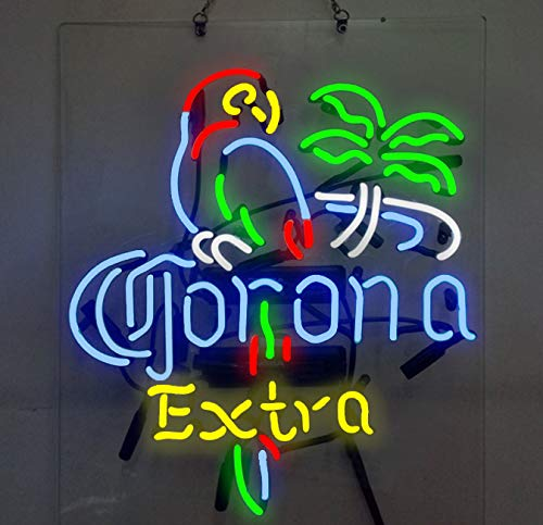 Corona Extra Parrot Palm Tree Beer Bar Pub Store Party Room Wall Windows Display Neon Signs ()
