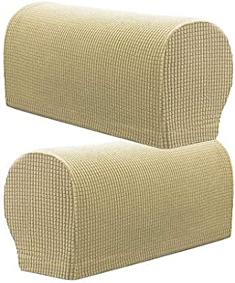 Amazon.com: LOVIVER Stretch Armrest Covers, Sofa Armchair ...