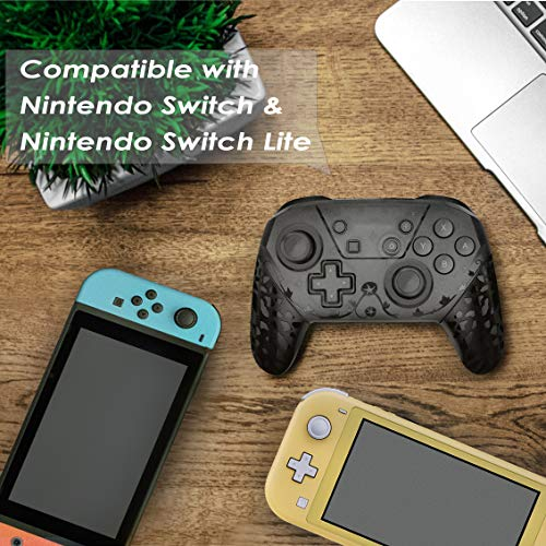Wireless Pro Controller for Nintendo Switch, [NFC Edition] 1200mAh Ergonomic Redesigned Comfortable Remote Replacement Gamepad Supports Gyro Axis and Motion Control