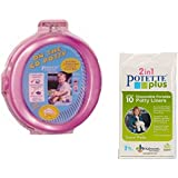 On-the-go Potty Portable Travel Toddler Seat Pink Chair...