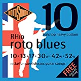 Rotosound RH10 Nickel Light Top/Heavy Bottom Electric Guitar Strings (10 13 17 30 42 52)