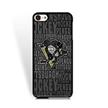 NHL- Pittsburgh Penguins Ice Hockey Team Logo Ipod Touch 6th Case, Hard Plastic Case Cover for Ipod Touch 6th