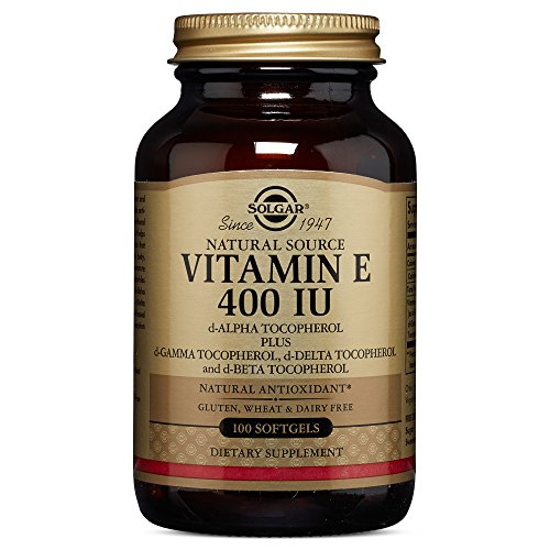 Solgar - Vitamin E 400 IU Mixed Softgels (400 IU d-Alpha Tocopherol & Mixed Tocopherols) 100 Count