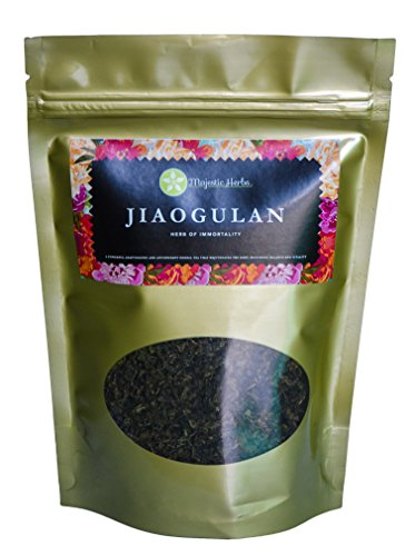 Jiaogulan Tea (Gynostemma Pentaphyllum) by Majestic Herbs | Organic Best Quality Pure Loose Leaf