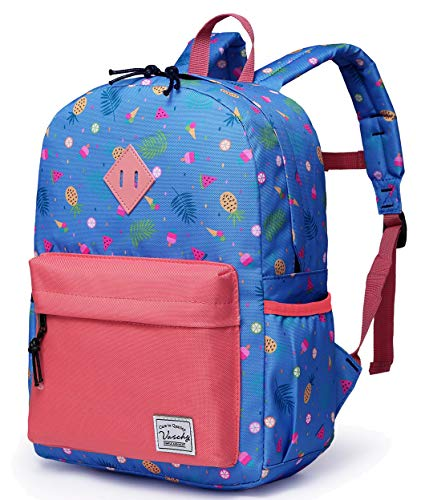 Preschool Girls Backpack,Vaschy Little Kids Small Schoolbag for Toddlers with Chest Strap Cute Fruits