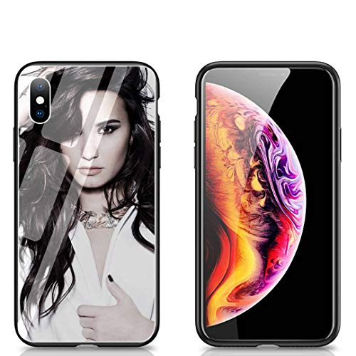 LHNING Phone Case iPhone XR, Tempered Glass Back Cover and Soft Silicone Rubber Bumper Frame for Scratch-Resistant and Shock Absorption LH-12 Demi ()