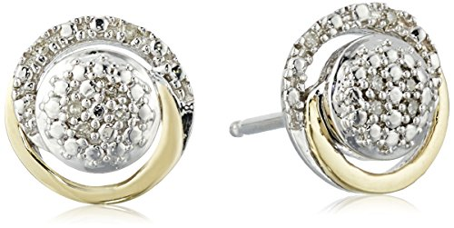 sg-sterling-silver-and-14k-yellow-gold-diamond-circle-framed-stud-earrings