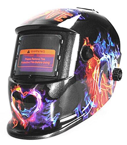 Pantalla LCD de soldar de seguridad para soldar soldador Arc Tig Mig máscara de desbaste para funciona con energía Solar: Amazon.es: Bricolaje y ...