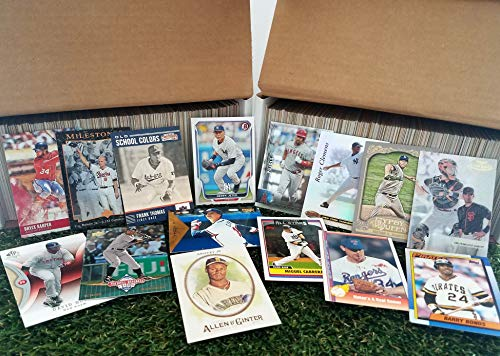 Baseball Cards- (900) card Super Jumbo lot of Baseball cards starter kit with Guaranteed Superstars from 1970's to present. Great gift for 1st time collectors or Birthdays.