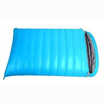 MIAO Saco de dormir - Plumas para acampar al aire libre Personas dobles Sacos de dormir, Inicio Padres y niños Sacos de dormir , blue: Amazon.es: Deportes y ...
