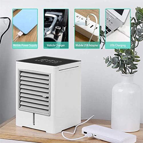 Draagbare luchtkoeler, mini-airconditioner, 3 in 1 persoonlijke verdampingskoeler, luchtbevochtiger, luchtreiniger met USB, timer, desktop-ventilator met 3 snelheden hZu4strg
