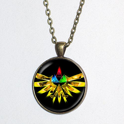 [Zelda Royal Wingcrest pendant necklace - Triforce - HM] (Ganon Cosplay Costume)