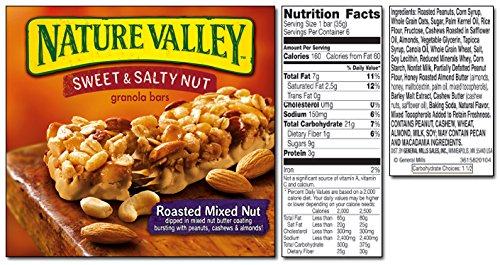Nature Valley Sweet & Salty Variety Pack (4): Amazon.com: Grocery & Gourmet Food