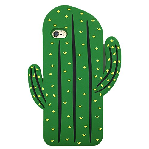 (iPhone 6 Plus / 6S Plus Case WGSSB Fashion Cute 3D Cartoon Plant Cactus Cover Vivid Soft and Protective Silicone Rubber Phone Case for Apple iPhone 6 Plus and iPhone)
