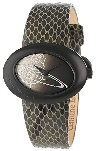 Vivienne Westwood Vivienne Westwood watch Vivienne symbolic orb circle motif women's leather strap watch VV014CHBK