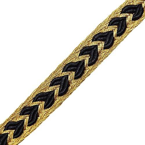Metallic Gold Trim 7 Mm Supplies Braid Edging Lace Thin Sewing Craft 18 (Thin Gold Trim)