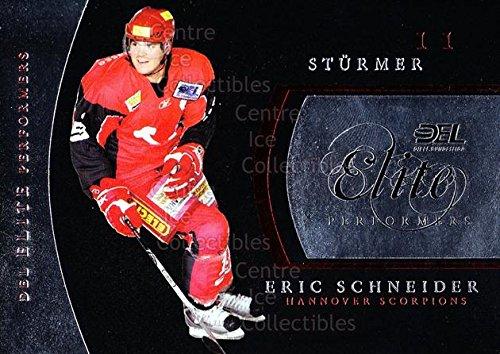 (CI) Eric Schneider Hockey Card 2009-10 German DEL Premium Elite Performers 5 Eric Schneider (2009 City Elite Single)
