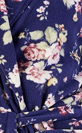 Slenderella Ladies Luxury Soft 150GSM Light Weight Micro Fleece Dressing Gown Bath Robe House Coat Small Medium Large XL