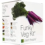 Plant Theatre Seed Starter Kit for Growing Vegetables - Funky Veg Kit to Grow Out or Indoor Garden - Pots, Peat Discs, Marker
