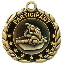 Simba QCM53 2.5 in. Quali Craft Medallion Medal Wrestling44; Antique Gold - Pack of 25