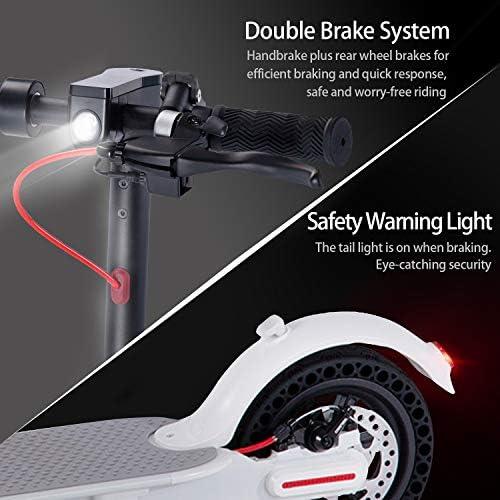 WINDEK Patinete el/éctrico Plegable con Pantalla y LED indicador de luz 8.5 Pulgadas Velocidades de hasta 25km//h Ultraligero