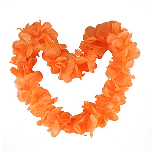 (Tropical Hawaiian Luau Ruffled Simulated Silk Flower Leis Party Favor Pack of)