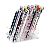 e cigarette display case - 24-Slots Clear Acrylic Paint Brush Display Stand Holder for Colored Pencils, Eyebrow Pencil, Makeup/Nail/Cosmetic Brush, E-Cigarette, Vapor and Pen
