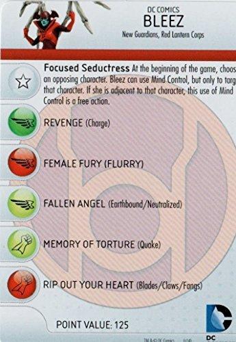 Heroclix DC War of Light #036 Bleez Figure Complete with Character Card