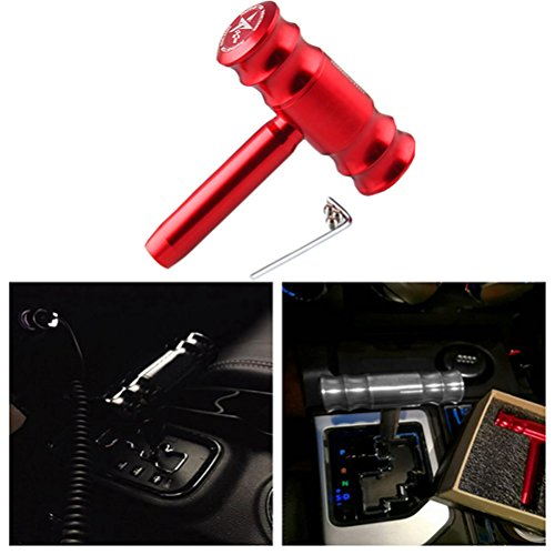 EKYAOMEI Automatic part T-handle Aluminum Hammer Model Manual Transmission Gear Shift Knob for Jeep Commander Wrangler Patriot Compass (Red) ()