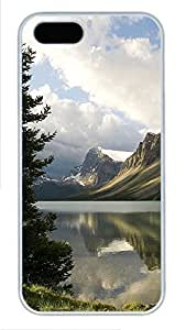Case For Iphone 5/5S Cover Nature calm lake PC Custom Case For Iphone 5/5S Cover Cover White