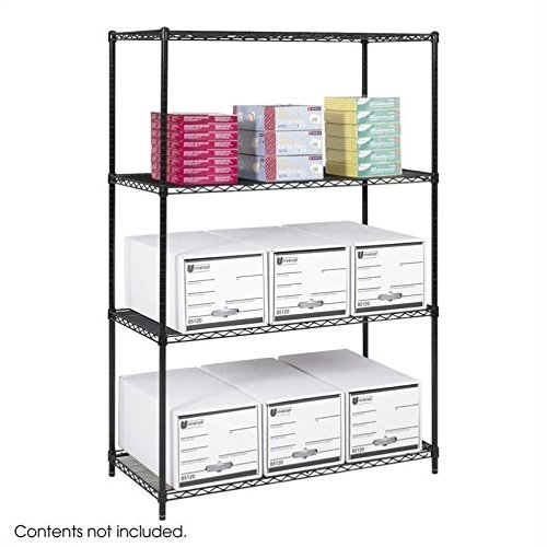 (Safco Products 5294BL Industrial Wire Shelving Starter Unit 48