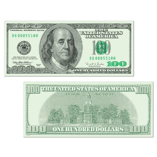 Beistle 55100 24-Pack Big Bucks Cutout Dollar 100 Bill Party Decoration, 7-1/2-Inch by (Dollar Sign Bead)