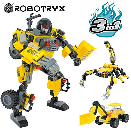 JITTERYGIT Robot STEM Toy | 3 in 1 Fun Creative Set | Construction Building Toys for Boys Ages 6-14 Years Old | Best Toy Gift for Kids | Free Poster Kit Included